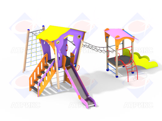 Детский игровой комплекс 2.25 купить в Воронеже в интернет-магазине Робинзония.