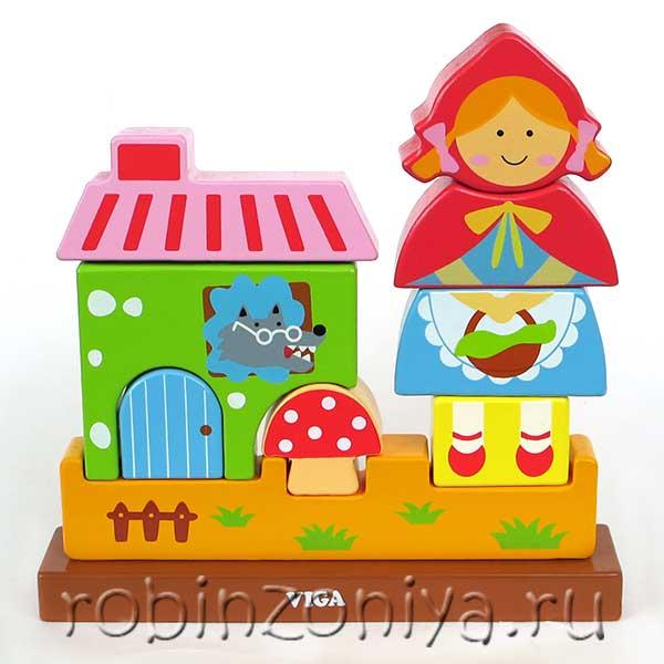 Магнитный пазл Красная шапочка от Viga купить с доставкой по России в интернет-магазине robinzoniya.ru.