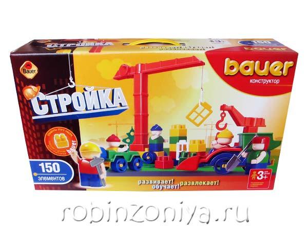 Конструктор Кроха Стройка 150 деталей купить с доставкой по России в интернет-магазине robinzoniya.ru.
