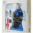 Микроскоп с подсветкой с увеличением до 100/300/600x, арт.454011