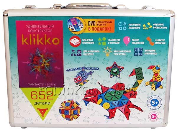 Конструктор Знаток Кликко Klikko 652 детали купить в интернет-магазине robinzoniya.ru.