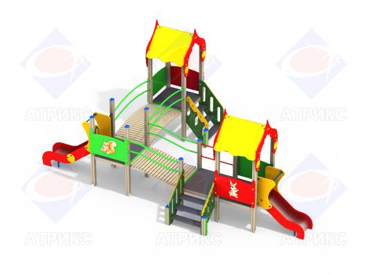 Детский игровой комплекс 3.174 купить в Воронеже в интернет-магазине robinzoniya.ru.
