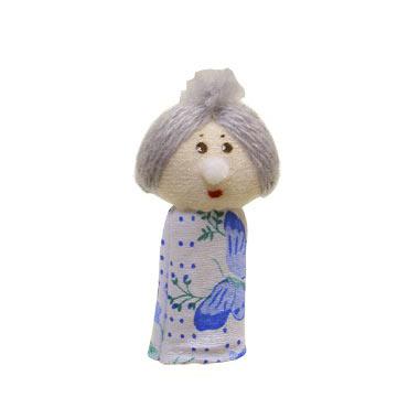 Кукла пальчиковая Бабка