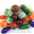 Счетный материал Овощи крашенные набор 16 штук