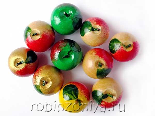Счетный материал из дерева яблоки купить в интернет-магазине robinzoniya.ru.