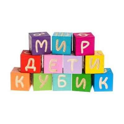 Кубики Веселая азбука 12 эл., Томик