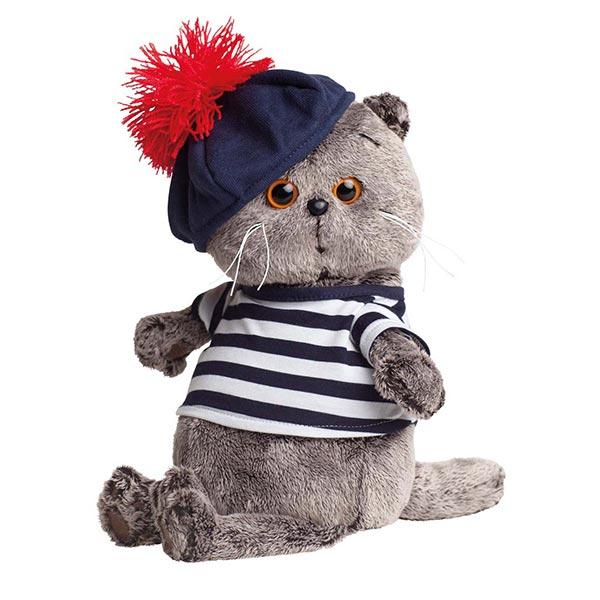 Кот Басик в тельняшке и берете 25 см купить с доставкой по России.