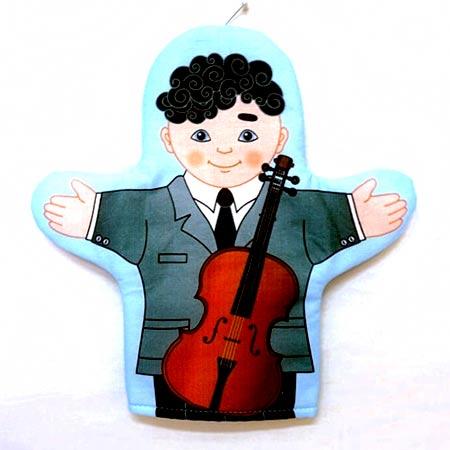Кукла рукавичка Музыкант купить с доставкой по России в интернет-магазине robinzoniya.ru.