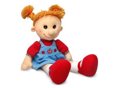 Мягкая поющая кукла Майя в сарафане с яблоками,Lava Toys