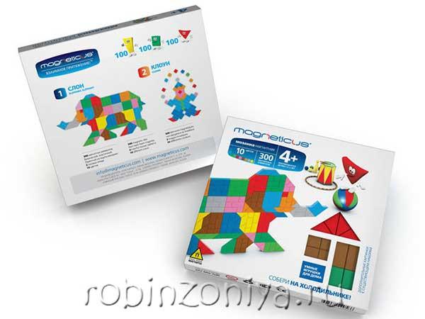 Магнитная мозаика Слон/клоун, 300 элементов купить с доставкой по России в интернет-магазине robinzoniya.ru.