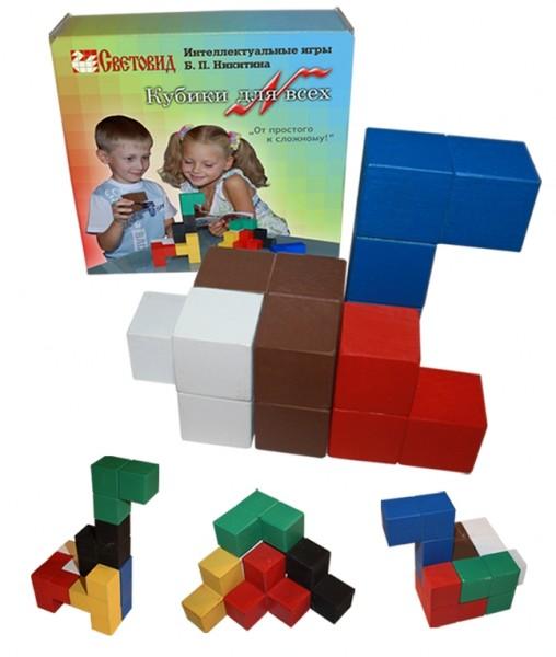 Кубики для всех для игр по методике Никитина купить в интернет-магазине robinzoniya.ru.