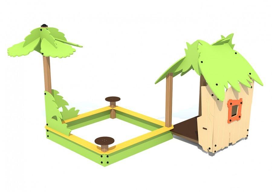 Домик Тропика T-5306 для детской площадки купить в Воронеже в интернет-магазине robinzoniya.ru.