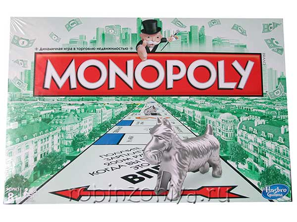 Настольная игра Монополия купить в интернет-магазине robinzoniya.ru.