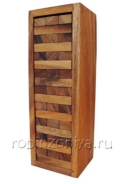 Настольная игра Дженга от Thai Wood большая купить с доставкой по России в интернет-магазине robinzoniya.ru.