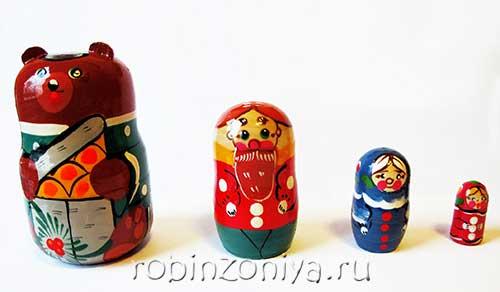 Игрушка матрешка Маша и медведь купить в интернет-магазине robinzoniya.ru.