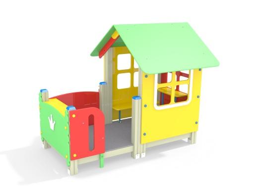 Домик Крошка МФ 5.25 для детской площадки купить в интернет-магазине robinzoniya.ru.