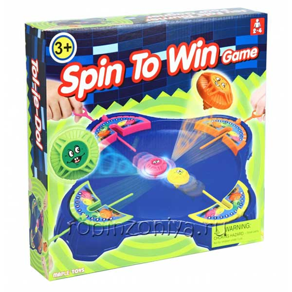 Настольная игра для детей Раскрути и победи купить в интернет-магазине robinzoniya.ru.