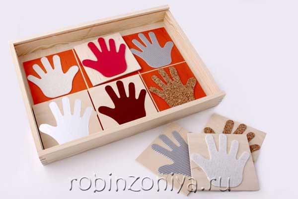 Рамка с вкладышами Тактильные ладошки от ЛЭМ купить с доставкой по России в интернет-магазине robinzoniya.ru.