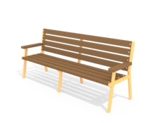 Лавочка Бизнес (деревянный брус) МФ 1.45