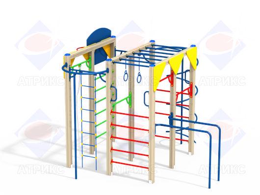Спортивный комплекс для детей с рукоходом и кольцами в интернет-магазине robinzoniya.ru.