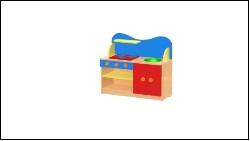 Кухня малютка (игровая мебель для детских садов)