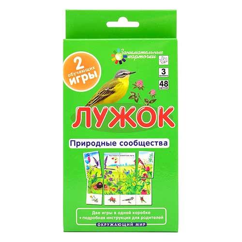 Дидактические карточки по окружающему миру №3 Лужок. Природные сообщества купить на robinzoniya.ru