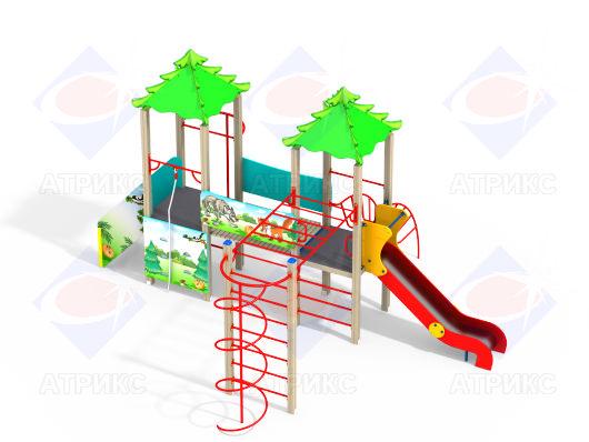 Детский игровой комплекс 2.40 Колобок купить в Воронеже в интернет-магазине Робинзония.