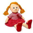 Мягкая поющая кукла Танюша в красном платье,Lava Toys