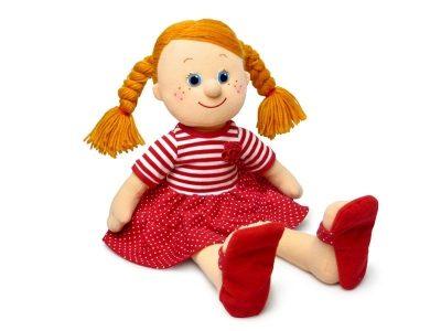 Мягкая поющая кукла Танюша в красном платье, Lava Toys