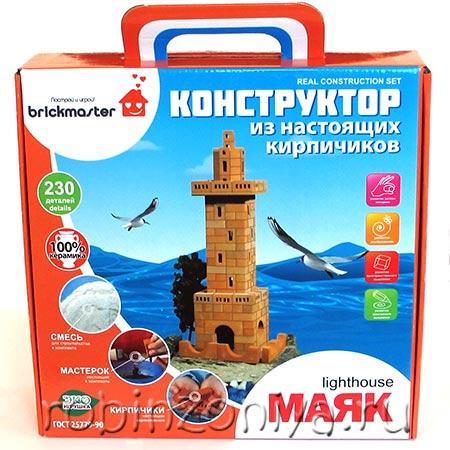 Конструктор из настоящих кирпичиков Маяк купить в интернет-магазине robinzoniya.ru.
