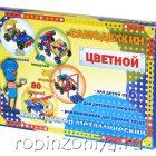 Конструктор металлический цветной Самоделкин (246 элементов, 40 моделей, арт. 03017)