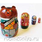 Матрешка Маша и медведь 4 персонажа