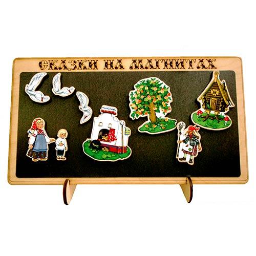 Сказки на магнитах Гуси Лебеди (деревянные) купить в интернет-магазине robinzoniya.ru.