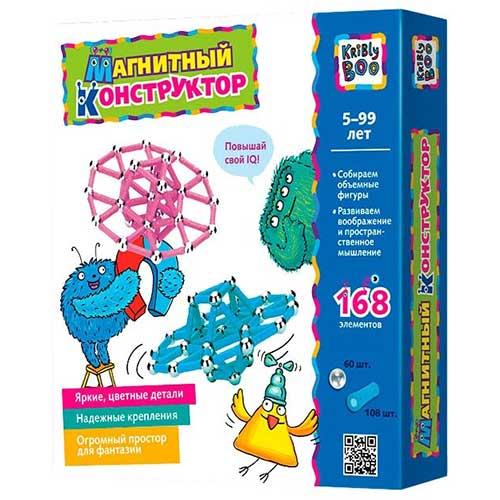 Магнитный конструктор Kribly Boo 168 деталей купить в интернет-магазине robinzoniya.ru.