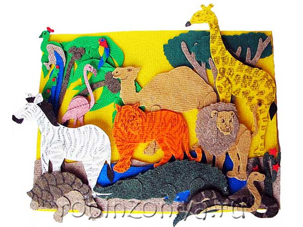 Игры из ковролина Животные жарких стран купить в интернет-магазине robinzoniya.ru.