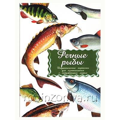 Дидактические обучающие карточки Речные рыбы