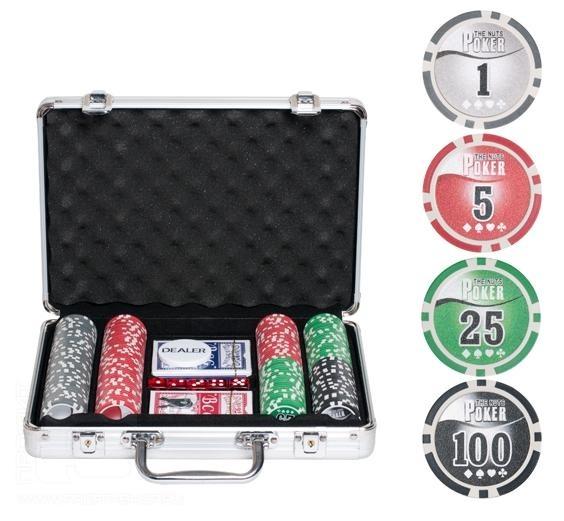 Набор для покера в кейсе на 200 фишек Nuts купить в Воронеже в интернет-магазине robinzoniya.ru.