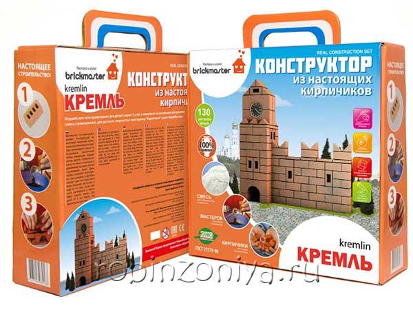 Конструктор из настоящих кирпичиков Кремль купить в интернет-магазине robinzoniya.ru.