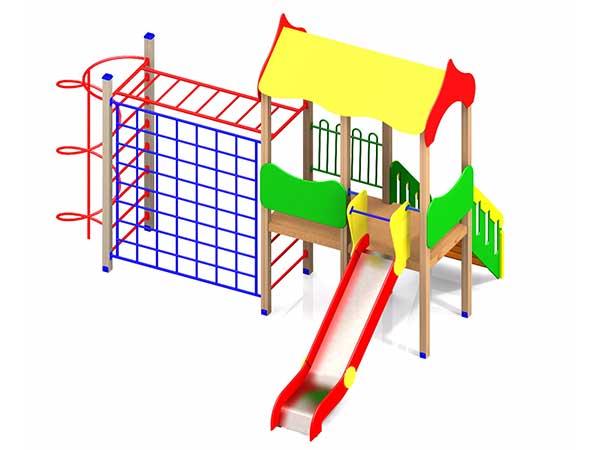 Детский игровой комплекс 1.07 купить в интернет-магазине robinzoniya.ru.