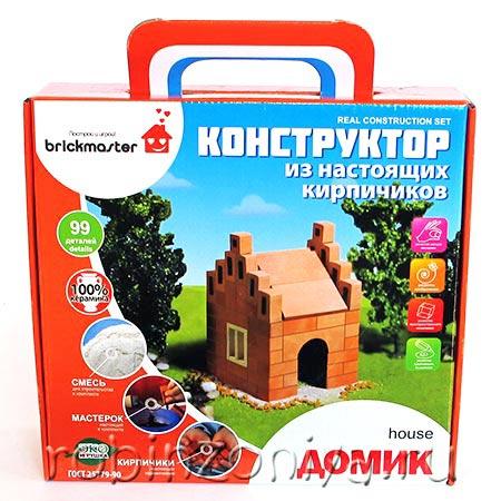 Конструктор из настоящих кирпичиков Домик купить в интернет-магазине robinzoniya.ru.