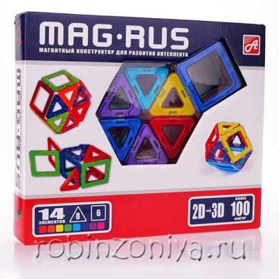 Магнитный конструктор Mag-rus 14 элементов