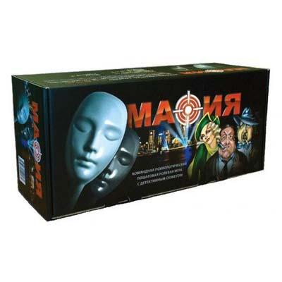 Набор подарочный в коробке Мафия с картами и масками купить в интернет-магазине robinzoniya.ru.