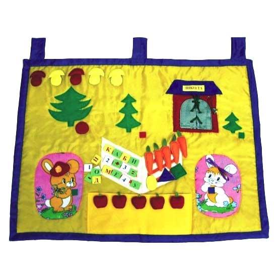 Мягкий развивающий коврик Лесная школа купить в интернет-магазине robinzoniya.ru.
