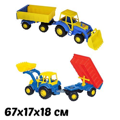 Машинка для детского сада Трактор Алтай с прицепом и ковшом №1 купить в интернет-магазине robinzoniya.ru.