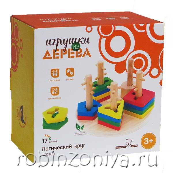 Деревянный логический круг купить в интернет-магазине robinzoniya.ru.