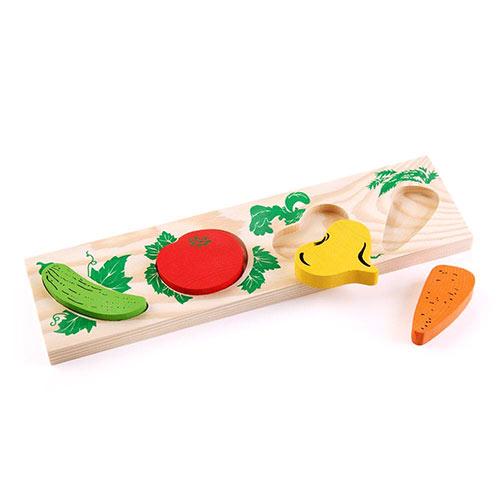 Рамка с вкладышами Овощи от Томик купить на robinzoniya.ru.