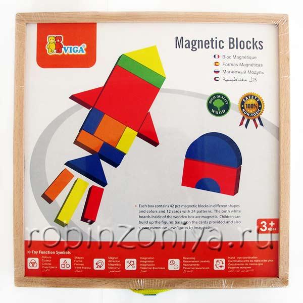 Магнитная мозаика из дерева Viga купить в интернет-магазине robinzoniya.ru.