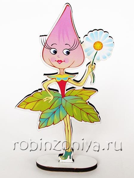 Игры Воскобовича персонаж на подставке Долька купить в интернет-магазине robinzoniya.ru.