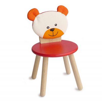 Стул для вечеринки, Животное/Медведь (красный)