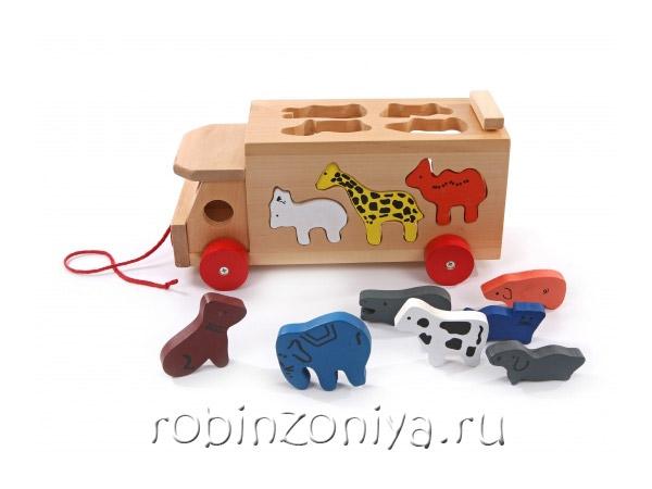 Сортер каталка Машинка и звери купить с доставкой по России в интернет-магазине robinzoniya.ru.